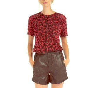 MAJE Red Dessert Leopard T-Shirt